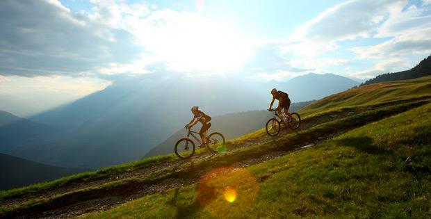 Mit Fahrrad über die Alpen
