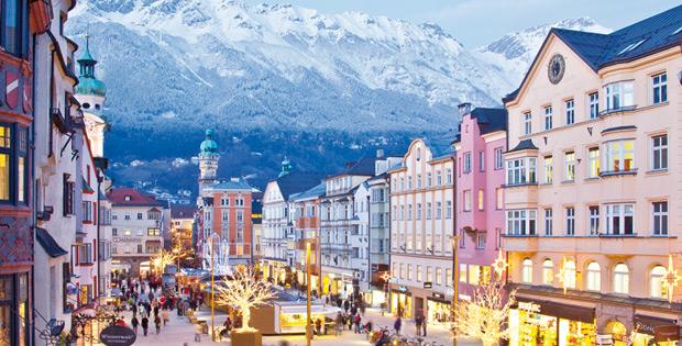 Warme Stadt im Winter: Innsbruck