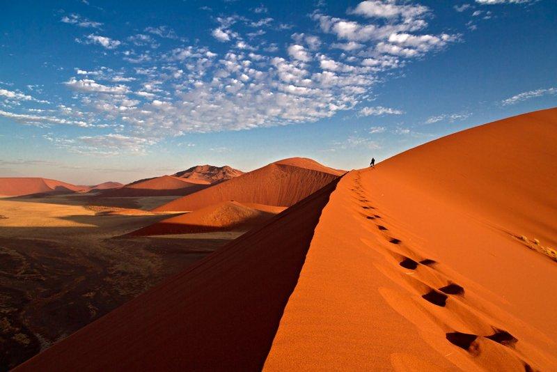 Sanddünen im Sossusvlei, Namib-Wüste